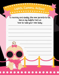 baby shower notes a is born black pink baby shower notes of advice