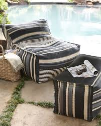 bean bag chair with ottoman striped outdoor beanbag chair ottoman
