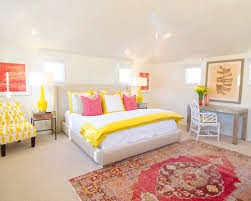 Dusty Pink Bedroom - yellow and pink houzz