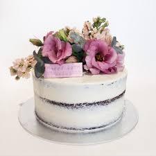 mandy floral semi cake chocolate mud cake white chocolate
