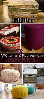 Diy Ottomans 30 Diy Ottoman Floor Pouf Projects Awesome Tutorials Ideas