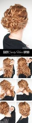 updos for curly hair i can do myself super easy updo hairstyle tutorial for curly hair hair romance
