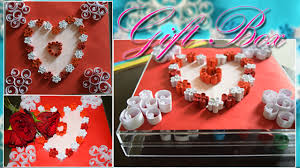 art time how to make gift box with heart at home valentine