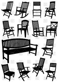 Rocking Chair Outdoor Furniture Collection Of Silhouettes Of Lawn Garden Furniture Wooden