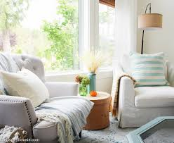 Big Chairs For Living Room by Seasonal Simplicity Fall Living Room Tour The Happy Housie