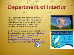 Who Is The Head Of The Department Of Interior The President U0027s Cabinet Us Government Chpt 6