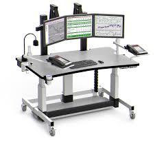 Movable Computer Desk Height Adjustable Computer Desk With Monitor Platform