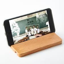support smartphone bureau téléphone de bureau stand pour iphone portable bois smartphone