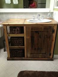 bathroom vanity made from pallets love this idea such a