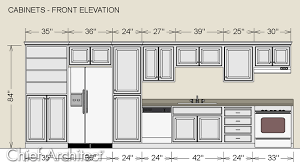 kitchen cabinet height sizes dimensioning cabinets in an elevation