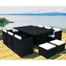 canapé jardin résine stunning salon de jardin noir resine tressee ideas amazing house