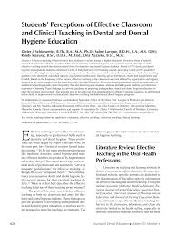 students u0027 perceptions of effective classroom and clinical teaching