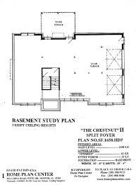home plan center chestnut ii basement