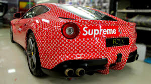 car wrapped in wrapping paper how dubai based car wrap workshop foilx detailed rashed belhasa s
