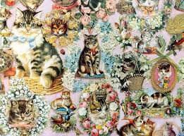 vintage gift wrapping paper cats and more cats 1970 s wrapping