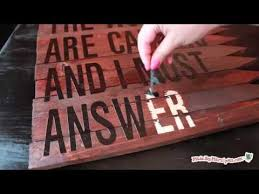 Wedding Quotes On Wood Make A Rustic Wood Sign Youtube