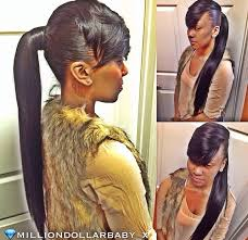 weave ponytail black ponytail hairstyles with bangs weave ponytail with swoop