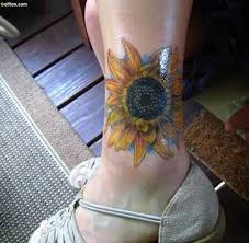 55 adorable ankle flower tattoos images u2013 best small flower