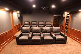 movie chairs for home theaters alluring home movie theater room design with red sofa and wall