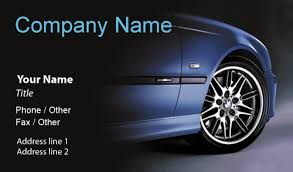 Car Name Card Design Bmw 3 5x2 Business Card Designs Printfirm Com