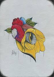 lily heart tattoo sketch best tattoo designs