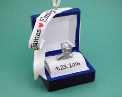 engagement ring box ornament etsy