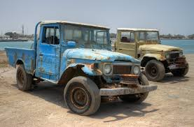 old land rover truck sunburnt and in need of a shave the elephant u0027s err