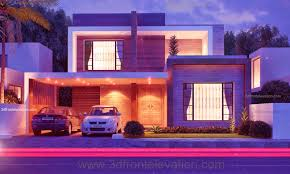 3d front elevation com 10 marla modern house plan beautiful