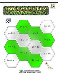 algebra maths games inequality game 1 algebra i pinterest