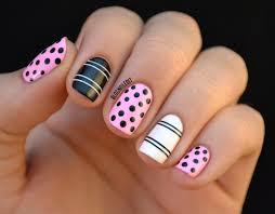 15 super cute dots and stripes nail designs fashionsy com