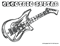 large guitar coloring page electric guitar coloring pages printable free doodle art adults