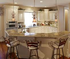 fabulous french country kitchen with wood floor barstool maple