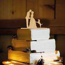 wooden cake topper kissing bride and groom wedding cake topper