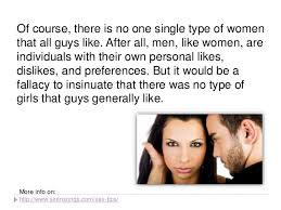 the types of guys like a small study