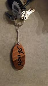personalized wooden keychains reclaimed personalized wooden keychain made from walnut and elm