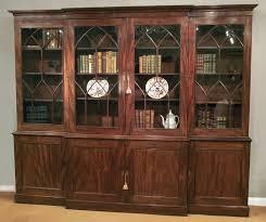 Mahogany Bookcases Uk Antique Mahogany Breakfront Bookcase Gothic Bookcase Large