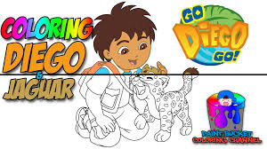 diego and baby jaguar dora the explorer coloring pages for kids