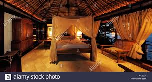 bedroom interior of exclusive luxury villa fregate island hotel