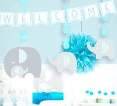 blue baby shower decorations fancy baby shower elephant decoration like this item baby shower
