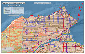 Topographic Map Seattle sustainability ambassadors west seattle maps