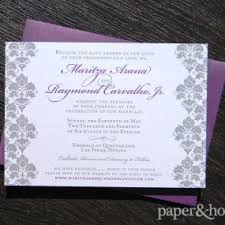 Damask Wedding Invitations Damask Wedding Invitations Marisa And Jt Paper And Home