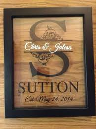 great anniversary gifts custom monogram split letter floating frame personalized makes a