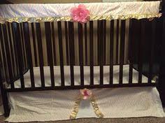 pink gold crib guard rail u0026 crib skirt ttcc tu tu lle cute