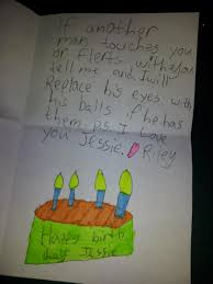 a 9 yr old made a birthday card for my sister rebrn com