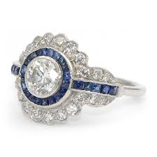 vintage sapphire u0026 diamond ring art deco wixon jewelers