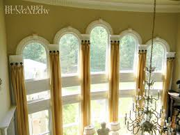Curtain Ideas For Curved Windows Ultimate Install Window Blinds Arch Window Center Mount
