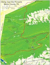 Appalachian Trail Map Pennsylvania by The Hiking Trail Maplets