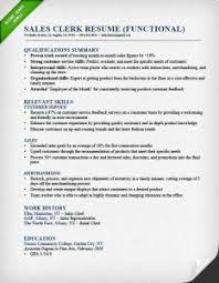 Functional Resume Sample Template What Is A Functional Resume Sample 6 Sales Clerk Functional Resume