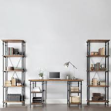 pipe desk with shelves beautiful diy pipe desk with shelves underneath feat two tall