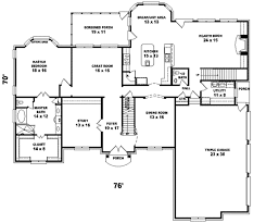 colonial style floor plans colonial style house plan 5 beds 4 00 baths 4500 sq ft plan 81 615